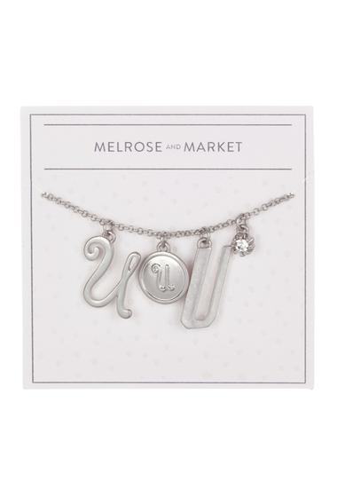 Bijuterii Femei Melrose and Market Initial Charm Pendant Necklace U-RHODIUM