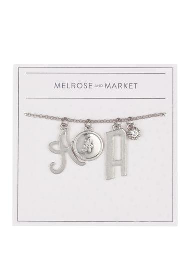 Bijuterii Femei Melrose and Market Initial Charm Pendant Necklace A-RHODIUM