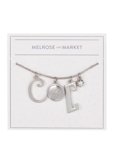 Bijuterii Femei Melrose and Market Initial Charm Pendant Necklace C-RHODIUM