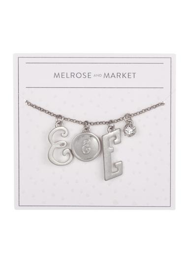 Bijuterii Femei Melrose and Market Initial Charm Pendant Necklace E-RHODIUM