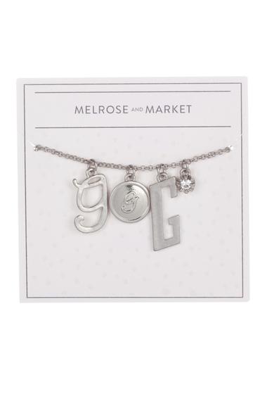Bijuterii Femei Melrose and Market Initial Charm Pendant Necklace G-RHODIUM