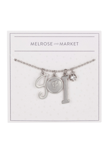 Bijuterii Femei Melrose and Market Initial Charm Pendant Necklace I-RHODIUM