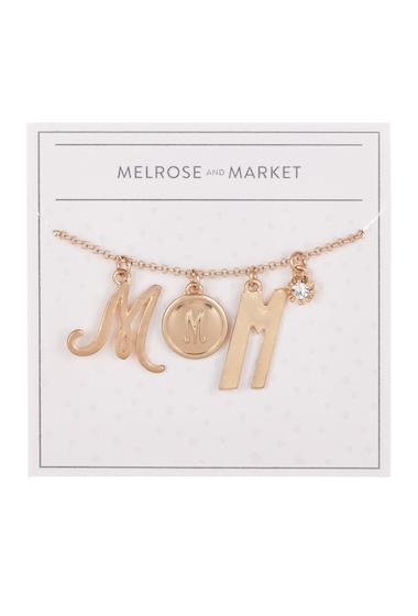 Bijuterii Femei Melrose and Market Initial Charm Pendant Necklace M-GOLD