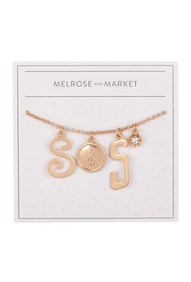 Bijuterii Femei Melrose and Market Initial Charm Pendant Necklace S-GOLD