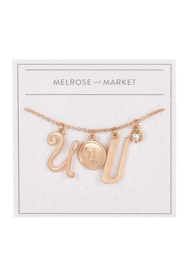 Bijuterii Femei Melrose and Market Initial Charm Pendant Necklace U-GOLD