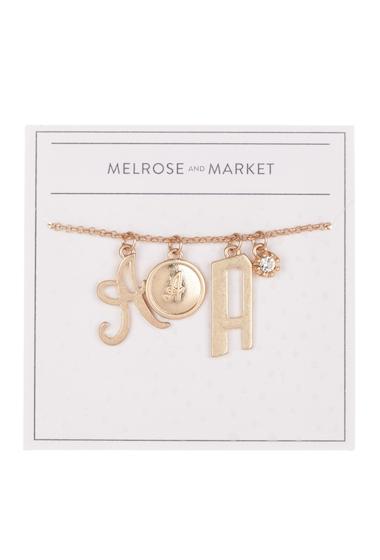 Bijuterii Femei Melrose and Market Initial Charm Pendant Necklace A-GOLD