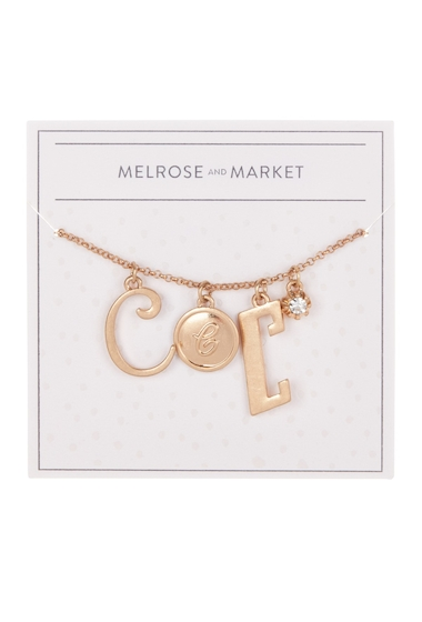 Bijuterii Femei Melrose and Market Initial Charm Pendant Necklace C-GOLD