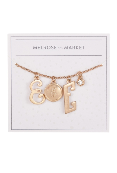 Bijuterii Femei Melrose and Market Initial Charm Pendant Necklace E-GOLD