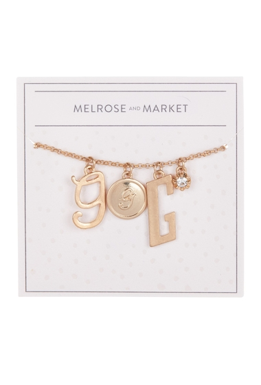 Bijuterii Femei Melrose and Market Initial Charm Pendant Necklace G-GOLD