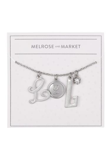Bijuterii Femei Melrose and Market Initial Charm Pendant Necklace L-RHODIUM