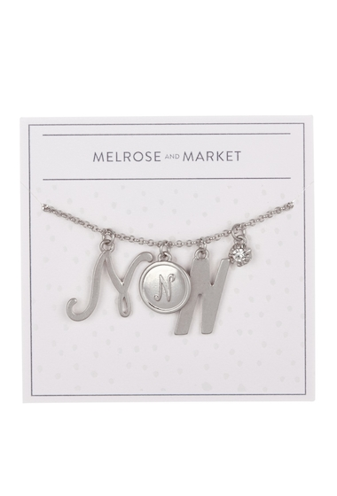 Bijuterii Femei Melrose and Market Initial Charm Pendant Necklace N-RHODIUM