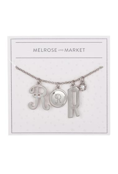 Bijuterii Femei Melrose and Market Initial Charm Pendant Necklace R-RHODIUM