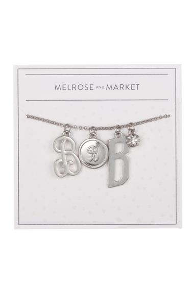 Bijuterii Femei Melrose and Market Initial Charm Pendant Necklace B-RHODIUM