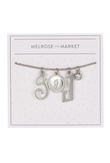 Bijuterii Femei Melrose and Market Initial Charm Pendant Necklace J-RHODIUM