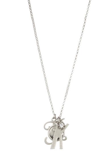 Bijuterii Femei Melrose and Market Initial Charm Pendant Necklace K-RHODIUM
