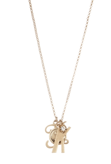 Bijuterii Femei Melrose and Market Initial Charm Pendant Necklace K-GOLD