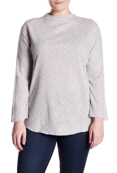 Imbracaminte Femei PLANET GOLD Brushed Bell Sleeve Sweater Plus Size GREY30