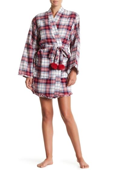 Imbracaminte Femei PJ Couture Plaid Wrap Robe RED PLAID