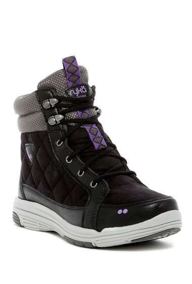 Incaltaminte Femei Ryka Aurora Quilted Boot - Wide Width Available BLACK-GREY-LILAC