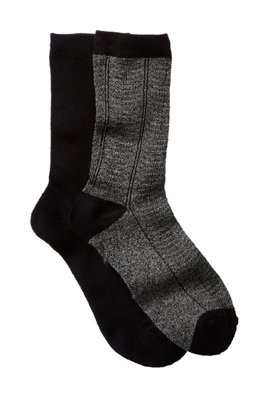 Accesorii Femei shimera Pillow Sole Crew Socks - Pack of 2 CHARCOAL-BLACK