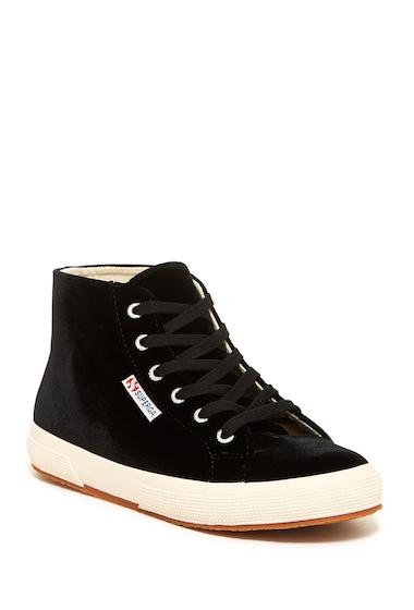 Incaltaminte Femei Superga Velvet Hi Top Sneaker BLACK