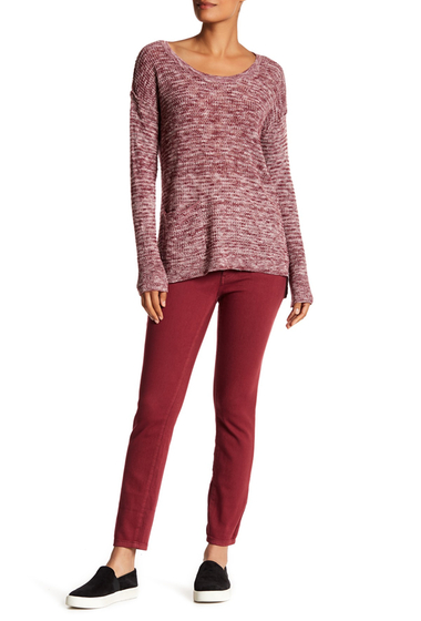 Imbracaminte Femei SUSINA Mid-Rise Skinny Ankle Jeans RED TANNIN