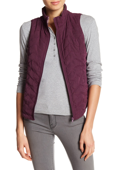 Imbracaminte Femei SUPPLIES BY UNION BAY Joanna Quilted Vest AUBERGINE