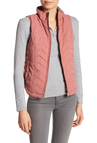 Imbracaminte Femei SUPPLIES BY UNION BAY Joanna Quilted Vest DK GUAVA