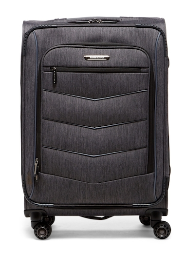 Genti Femei Travelers Choice Silverwood 26 Softside Spinner Case BRUSH CHARCOAL