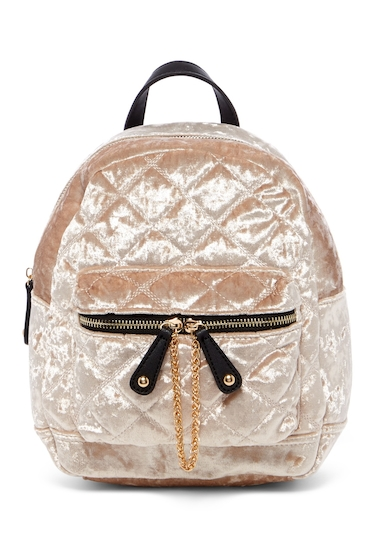 Genti Femei Urban Expressions Velvet Quilted Mini Backpack NATURAL