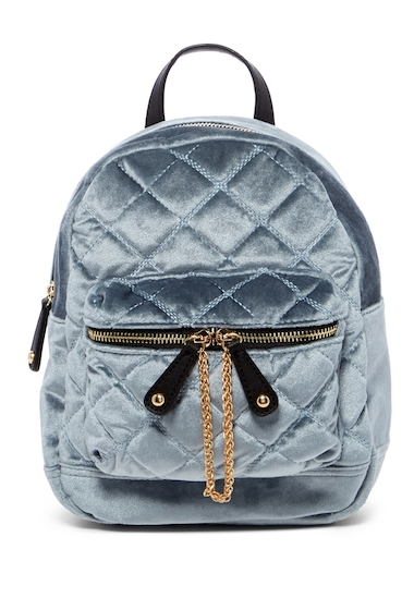 Genti Femei Urban Expressions Velvet Quilted Mini Backpack ICE BLUE