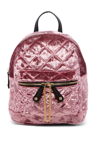Genti Femei Urban Expressions Velvet Quilted Mini Backpack DUSTY PINK
