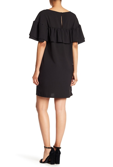 Imbracaminte Femei Vanity Room V-Neck Ruffle Sleeve Dress BLACK GEO