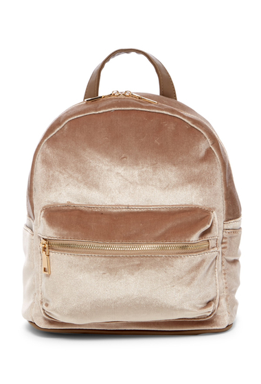 Genti Femei Urban Expressions Velvet Mid Backpack NATURAL