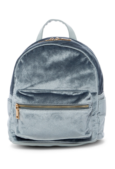Genti Femei Urban Expressions Velvet Mid Backpack ICE BLUE