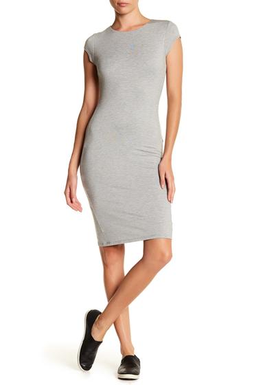 Imbracaminte Femei Velvet Torch Cap Sleeve Midi Dress HTR GREY