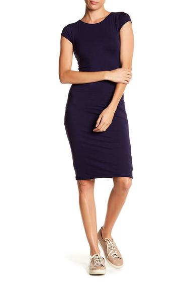 Imbracaminte Femei Velvet Torch Cap Sleeve Midi Dress NAVY