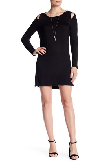 Imbracaminte Femei Vanity Room Cold Shoulder Knit Dress BLACK