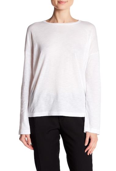 Imbracaminte Femei Vince Relaxed Long Sleeve Crew Neck Tee WHITE