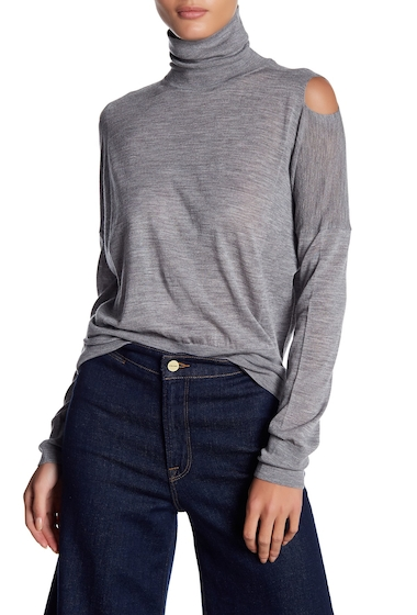 Imbracaminte Femei Vince Cold Shoulder Wool Turtleneck H GREY