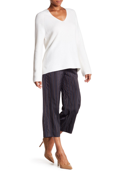 Imbracaminte Femei Vince Stripe Crop Pants COASTAL-GREY-BROWN