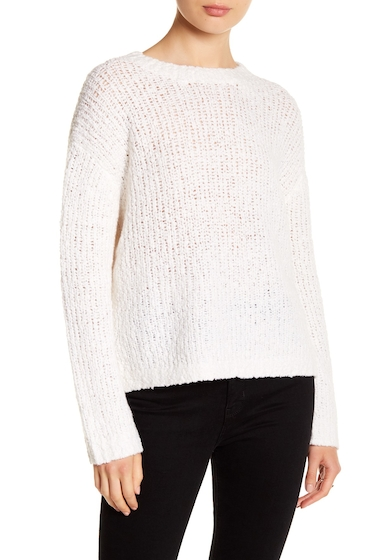 Imbracaminte Femei Vince Textured Boxy Merino Wool Blend Pullover WHITE