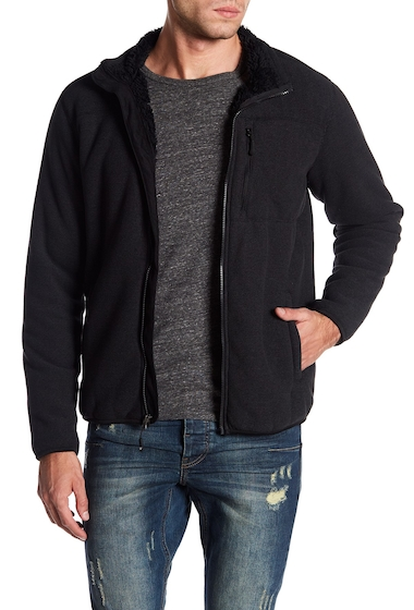 Imbracaminte Barbati Weatherproof Stripe Fleece Jacket BLACK COMBO