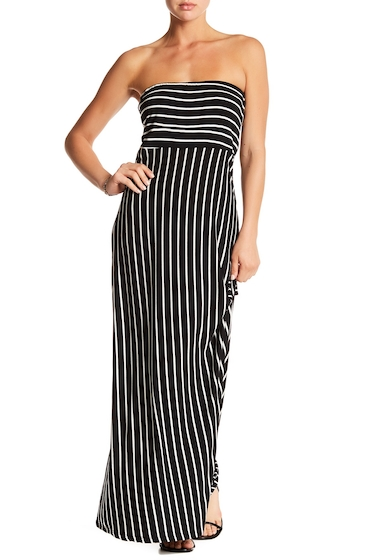Imbracaminte Femei WEST KEI Strapless Stripe Maxi Dress BLACK-WHITE STRIPE