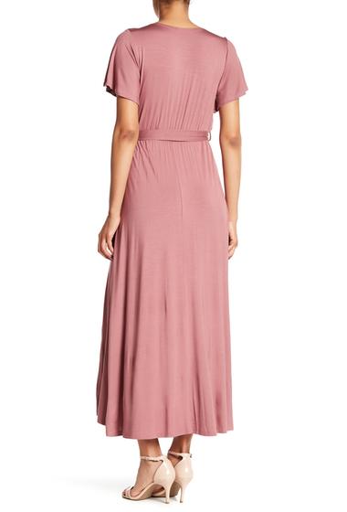 Imbracaminte Femei WEST KEI Hi-Lo Knit Wrap Dress MAUVE