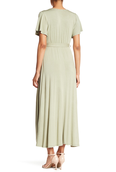 Imbracaminte Femei WEST KEI Hi-Lo Knit Wrap Dress SAGE