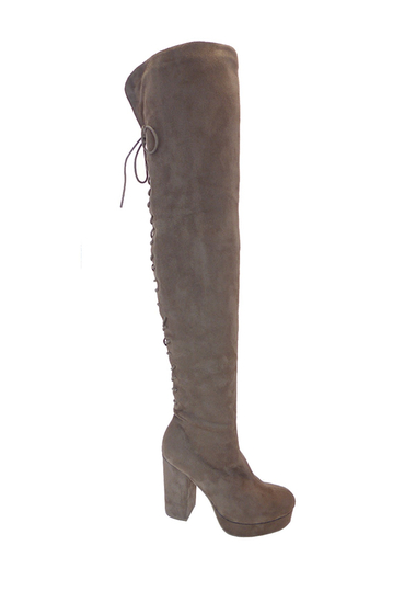 Incaltaminte Femei Wild Diva Lounge Sugarlove Over-the-Knee Platform Boots TAUPE