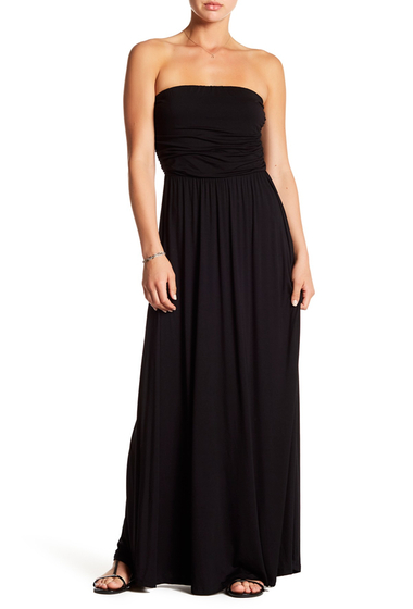 Imbracaminte Femei WEST KEI Strapless Maxi Dress BLACK