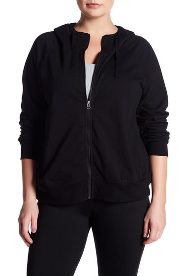 Imbracaminte Femei Z By Zella Rhythm Fleece Zip Hoodie Plus Size BLACK