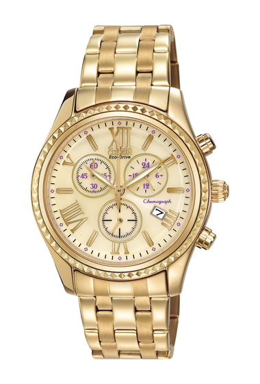 Ceasuri Femei Citizen Watches Womens Eco-Drive Chronograph Stainless Bracelet Watch 40mm NO COLOR